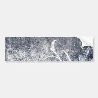 BLACK WHITE FLORAL GRUNGE EMO DARK SMOKEY ASH TEXT BUMPER STICKER