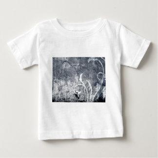 BLACK WHITE FLORAL GRUNGE EMO DARK SMOKEY ASH TEXT INFANT T-Shirt