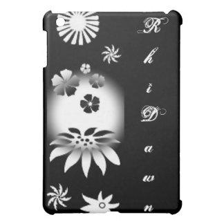 Black/White Floral iPad Case