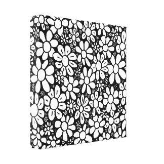 Black & White flower canvas Canvas Print
