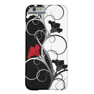 Black White Flowers iPhone 6 case