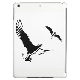 Black & White Flying Birds - iPad Air case
