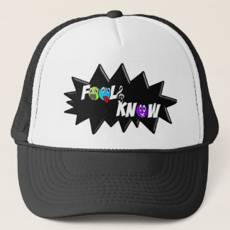 Black/White Fools Know Hat