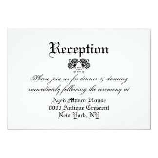 Black white formal vintage wedding 02 9 cm x 13 cm invitation card