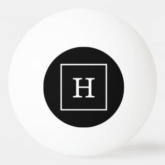 Black White Framed Initial Monogram
