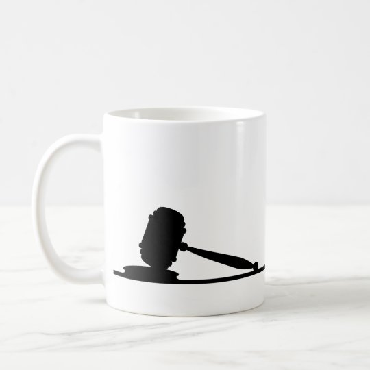 Black & White Gavel Attorney Custom Name Coffee