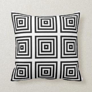 Black White Geometric Design Pillow Cushion