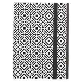 Black & White Geometric Tile Tessellation Pattern Cover For iPad Air