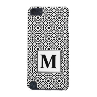 Black & White Geometric Tile Tessellation Pattern iPod Touch (5th Generation) Cases