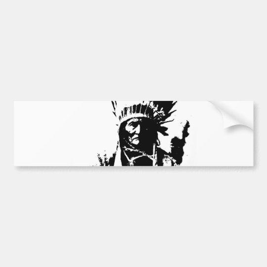 Black & White Geronimo Bumper Sticker