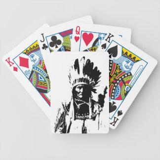 Black & White Geronimo Poker Deck