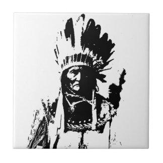 Black & White Geronimo Small Square Tile