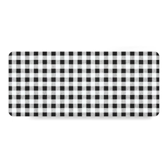 Black White Gingham Pattern Card