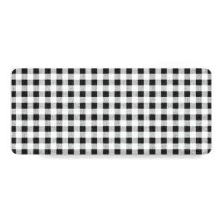 Black White Gingham Pattern Card