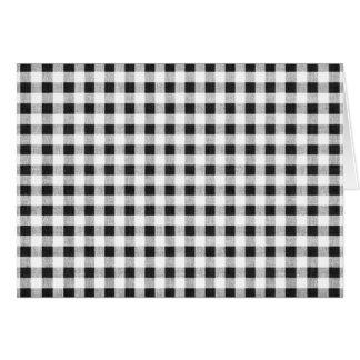Black White Gingham Pattern Greeting Card
