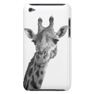 Black & White Giraffe Barely There iPod Cover