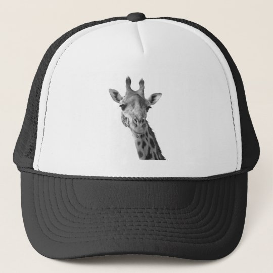 Black & White Giraffe Cap