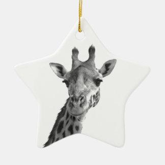 Black & White Giraffe Christmas Ornament