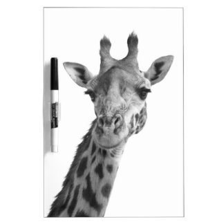 Black & White Giraffe Dry Erase Board