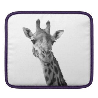 Black & White Giraffe iPad Sleeve
