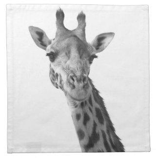 Black & White Giraffe Napkin