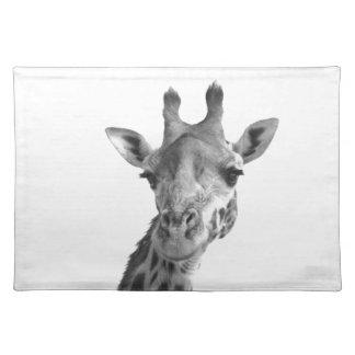 Black & White Giraffe Placemats