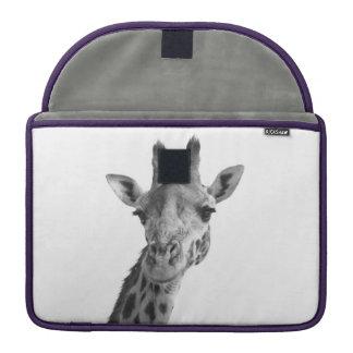 Black & White Giraffe Sleeve For MacBooks