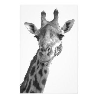 Black & White Giraffe Stationery