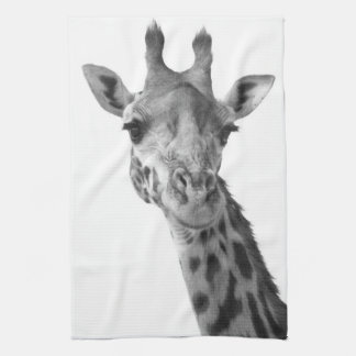 Black & White Giraffe Tea Towel
