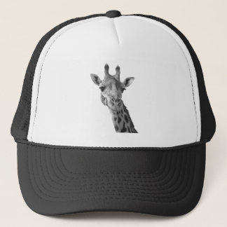 Black & White Giraffe Trucker Hat