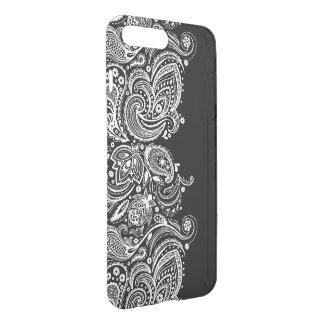 Black & White Girly Paisley Lace Design GR2 iPhone 8 Plus/7 Plus Case
