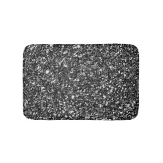 Black & White Glitter Bath Mat