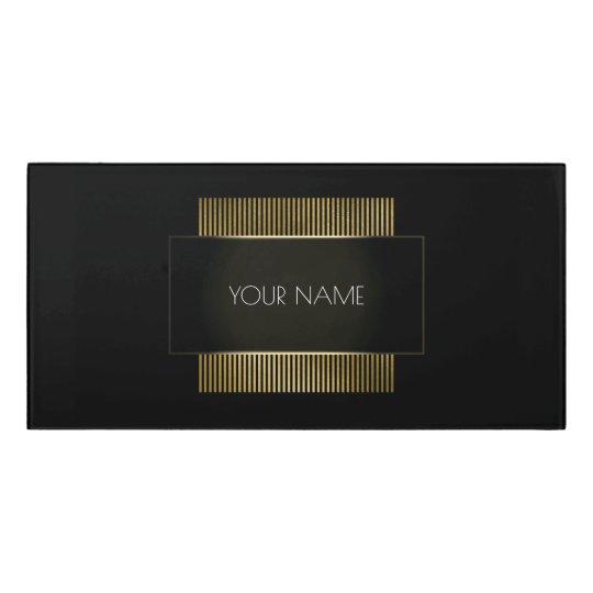 Black White Gold Conceptual Minimal Geometry Door Sign
