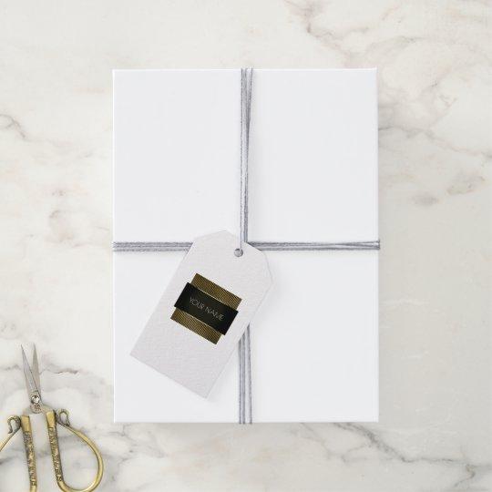 Black White Gold Frame Boutique Minimal Brand Lux
