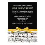 Black white & gold yellow musical concert recital