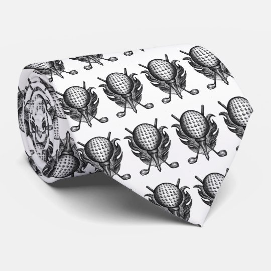Black White Golf Ball Tee Clubs Golfer Gift