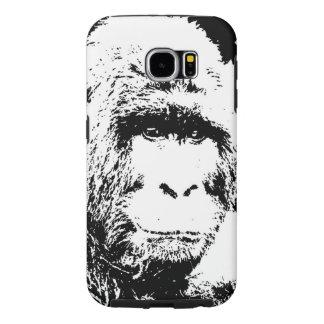 Black & White Gorilla Samsung Galaxy S6 Cases