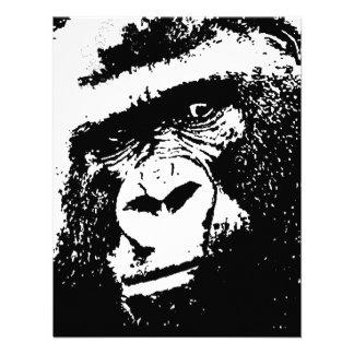 Black White Gorilla Invitations