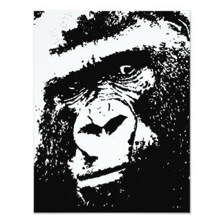 Black & White Gorilla Invitations