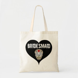 Black & White Gothic Wedding with Skull Bridesmaid Tote Bag
