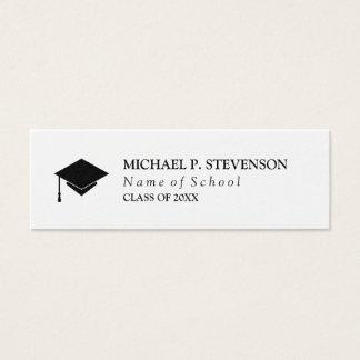 Black & White Graduation Networking Mini Business Card