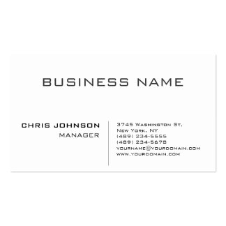Black & White Gray Charming Manager Business Card