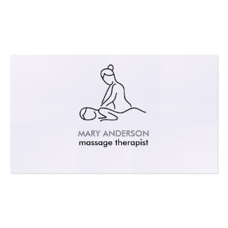 Black White Gray Massage Therapy Masseuse Spa Pack Of Standard Business Cards