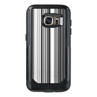 Black White Gray Striped Pattern OtterBox Samsung Galaxy S7 Case