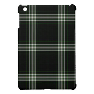 Black White Green Tartan Plaid Case For The iPad Mini