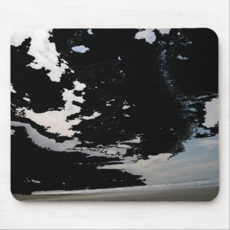 Black white grey abstract photo sky and beach mouse mat