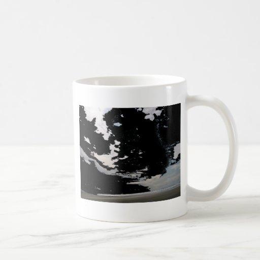 Black white grey abstract photo sky and beach coffee mugs