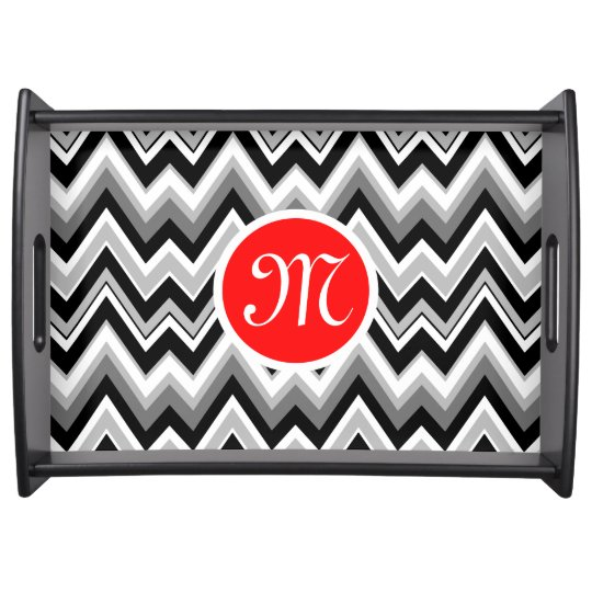 Black, White & Grey Chevron Zigzag Pattern 2