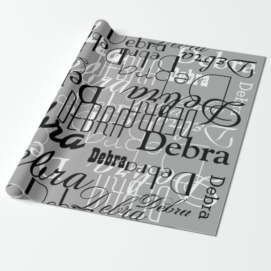 black / white / grey custom pattern of