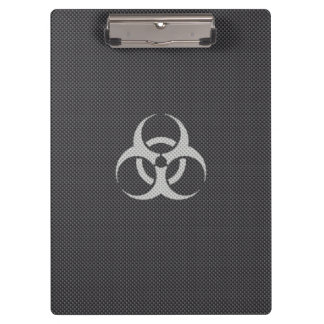 Black White & Grey Toxic Carbon Fiber Clipboard